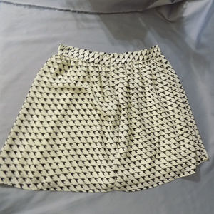 Lined mini skirt